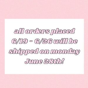 SHIPPING UPDATE!